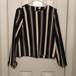 ZARA stripes blouse with zipper. Great condition.